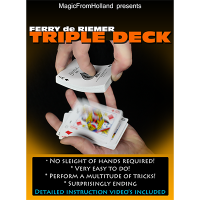 Triple Deck by Ferry De Riemer (Deck Not Included)